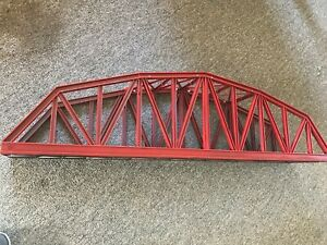 LGB 5061 FOUR FOOT LONG BRIDGE USED PAINTED RED #2
