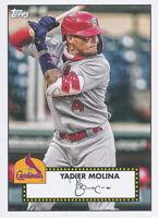 Yadier Molina 2021 Topps Series 1 1952 Topps Redux Set #T52-30 Cardinals