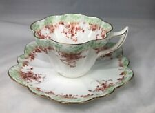 Foley tea cup and saucer bone china, England, floral with gold trim