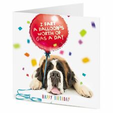 Ho fatto un numero di riferimento, il patrimonio di gas un giorno -- San Bernardo cane dice Happy Birthday Carta