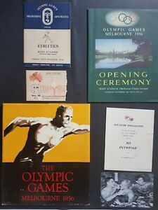 1956 Melbourne Olympic Games Collection   Official Programmes and more