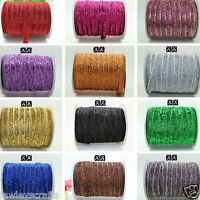"✿ 2m GLITTER SPARKLE BLING VELVET RIBBON FOR HEADBANDS CLIPS 3/8"" 9/10mm ✿"