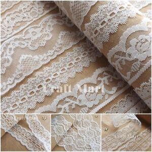 VINTAGE antique style Ivory LACE RIBBON WEDDING sewing Bridal Shabby dress diy