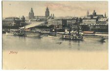 AK, Mainz, Panorama, Dampfer, um 1900