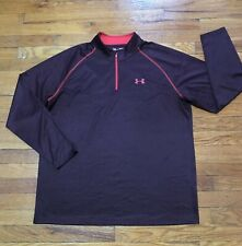 Under Armour Men's XL Loose Shirt Maroon / Red Long Sleeve HeatGear