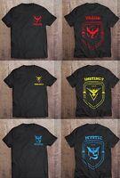 Pokemon Go Team Valor / Mystic / Instinct T-Shirts PREMIUM 'AS COLOUR' Branded