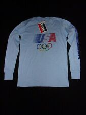NOS 1984 Olympic Games Los Angeles LEVIS Boys LG 16-18 BLUE Long Sleeve 5 Rings