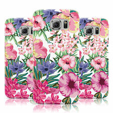 WHITE BRIGHT FLOWER PATTERN PINK FLORAL CASE FOR SAMSUNG GALAXY MOBILE PHONES