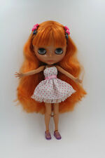 """12"""" Blythe Doll factory Nude Chocolate Color Curly Hair Jointed Body"""
