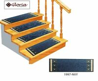 """Set of 14 - Non Slip Carpet Stair Treads (8.5"""" x 26"""") Stair Mat Rugs for Stairs"""