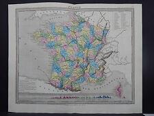 Antique Map, 1845 France R7#47