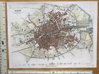 """12/"""" x 9/"""" Reprint Old Antique colour map of Colchester early 1800/'s England"""