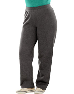 Just My Size Women's Open Hem Leg Fleece Sweatpants Size 4X, 4X Petite