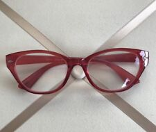 Betsey Johnson Reading Glasses Clear Red Frame  Readers +2.00