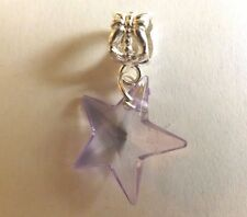 pendentif argenté étoile violette 19x19 mm