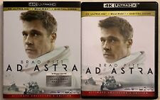 AD ASTRA 4K ULTRA HD BLU RAY + SLIPCOVER SLEEVE FREE WORLD SHIPPING BRAD PITT