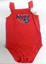"""Girl's Size 24 Mos Jumping Beans Red """"Happy 4th"""" Sleeveless Bodysuit Nwt #8856"""