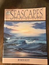 *RARE* Seascapes Step By Step Painting Book by Rick Scott, Beaches BRAND NEW