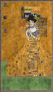 Robert Kaufman Digital Fabric Panel Gustav Klimt Portrait of Adele Bloch-Bauer