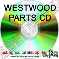 WESTWOOD TRACTOR MOWER PARTS LISTS CD ALL DIAGRAMS, OWNERS GUIDE