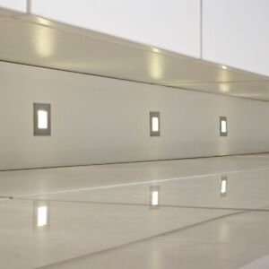 NEW Pack of 4 Sensio LUCE LED Square Kitchen Plinth Lights Cool White + driver