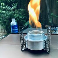 Siphon Alcohol Stove & Ti Stand & Simmering Ring for Outdoor Hiking Camping