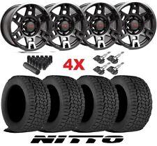 Trd Black Wheels Rims Tires 265 70 17 At Nitto Terra Grappler Package 75167