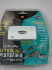 USB 2.0 10 in 1 Card Reader Cables Stratitec New in Package