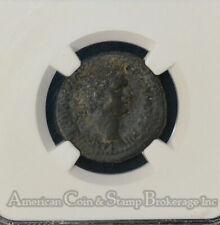 Domitian 92/93AD AE24 Ch VF NGC bronze Caesarea Maritima Judaea Capta RARE