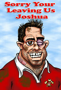 PERSONALISED WELSH RUGBY PLAYER -Humourous- GREETING CARD ANY RELATION - R34