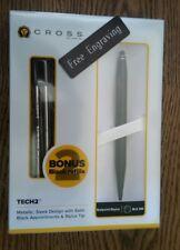 FREE ENGRAVING (PERSONALIZED) Cross Tech 2 Black Stylus Ballpoint Pen