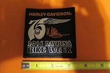 HARLEY DAVIDSON 2016 DAYTONA BIKE WEEK 75TH WILLIE G SKULL WING PATCH RARE
