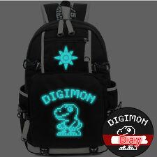 Digimon Adventure  Monster Luminous Backpack Schoolbag Laptop Noctilucence Bag