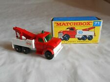 Matchbox Lesney No 71 Ford heavy Wreck truck  boxed