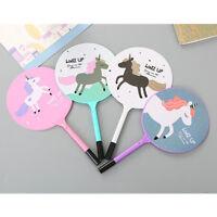 6pcs Cute Fan Horse Unicorn Design Ballpoint Writing Pens Office School Supply