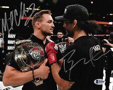 Michael Chandler Benson Henderson Signed 8x10 Photo BAS Beckett COA Bellator MMA