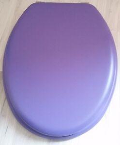 Abattant wc violet solide sans fixations