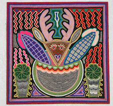 Huichol Yarn Painting 12x12 #9
