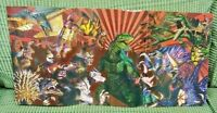 """Wii Playstation 2 PS2 Nintendo DS Godzilla Unleashed Game Poster Rare 21"""" x 10"""""""