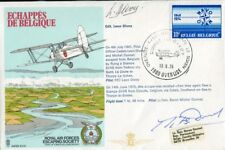 WW2 RAF Belgium fighter ace Donnet & Divoy signed cover - UACC DEALER
