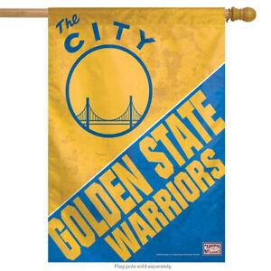 "Golden State Warriors NBA Vertical House Flag Licensed 27"" x 37"""