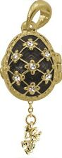 Faberge Egg Pendant / Charm with Angel 2.1 cm black #2-1026