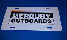 MERCURY OUTBOARDS RACING LICENSE PLATE GLOSS WHITE - NEW !