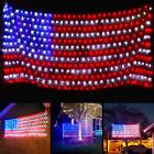 Super Larger Size American Flag Lights July 4th Patriotic 420 LED String Net Day