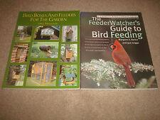 Bird Feeders Book Lot Bird Boxes Feeders for Garden + FeederWatcher's Guide to