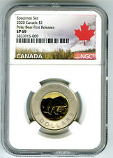 2020 CANADA $2 NGC SP69 FIRST RELEASES SPECIMEN TWO DOLLAR TOONIE RARE