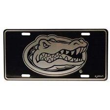 Florida Gators Elite Front License Plate NCAA Black/Chrome NEW