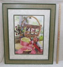 Framed Print Judy Buswell Jessicas Hat Wide Green & Tan Frame 30 x 36