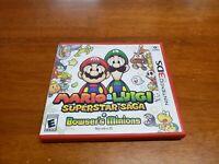 Mario & Luigi: Superstar Saga + Bowser's Minions (Nintendo 3DS, 2017) Complete