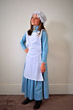 Gorgeous colonial victorian girl costume 4 piece cotton quality fabric